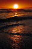 Sunrise over the ocean stock photos