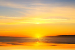 Sunrise over ocean. Nature composition Stock Photo