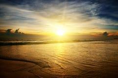 Sunrise. A sunrise over the ocean Stock Photos