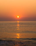 Sunrise over ocean. Nature composition Royalty Free Stock Photography