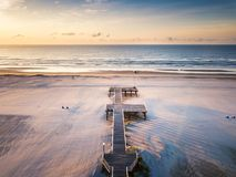 Sunrise over the ocean aerial view Royalty Free Stock Images