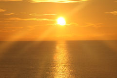 Sunrise Over the Ocean 15 Royalty Free Stock Photo
