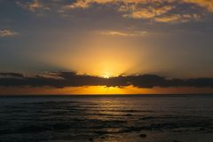 Sunrise over the ocean, Australia stock photography