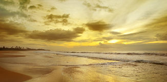 Sunrise over the ocean. Beautiful sunrise over the ocean Stock Photography
