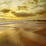 Sunrise over the ocean. Beautiful sunrise over the ocean Royalty Free Stock Photography