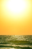 Sunrise over the ocean. Beautiful sunrise over the ocean Royalty Free Stock Photos