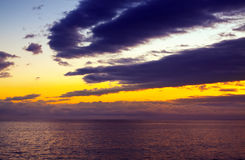 Sunrise over  ocean. Beautiful sunrise over Atlantic ocean Stock Photography