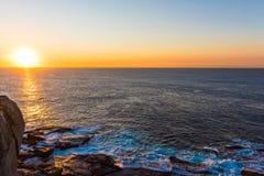 Sunrise over the ocean in Bondi, Sydney, Australia. Sunrise in Bondi, Sydney, Australia over the Pacific Ocean Royalty Free Stock Photo