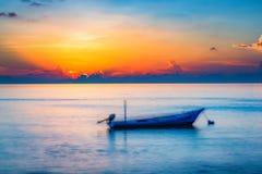 Sunrise over ocean stock image