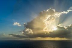Sunrise over the ocean  on Curacao. A Caribbean Island Royalty Free Stock Photos