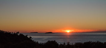 Sunrise over the ocean. Early morning sunrise over the ocean Australia Royalty Free Stock Photo
