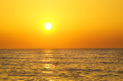 Sunrise over ocean. Stock Images