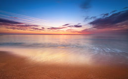 Sunrise over ocean. Nature composition Royalty Free Stock Photos