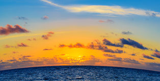 Sunrise over the ocean Royalty Free Stock Photos