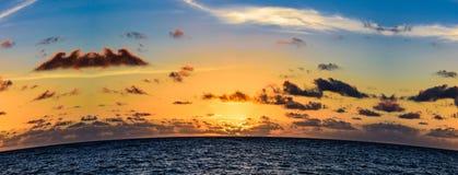 Sunrise over the ocean Stock Photo