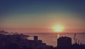 Sunrise over ocean in Rio de Janeiro Stock Photo