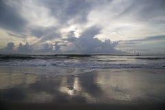 Sunrise over ocean. Sun rising over Atlantic Ocean on east coast of Florida Stock Photos