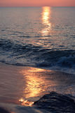 Sunrise Over Ocean. The sunrises over the ocean on a summer morning Royalty Free Stock Photography