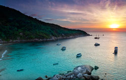 Sunrise over the ocean. Thailand Royalty Free Stock Image