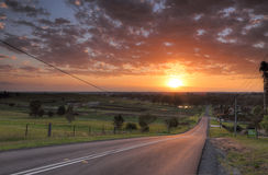 Sunrise over Orchard Hills Penrith Stock Images