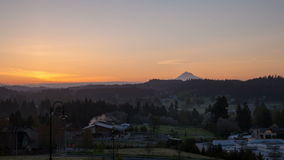 Sunrise over Oregon Cascade Range in Happy Valley City stock footage