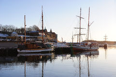 Sunrise over Oslofjord Royalty Free Stock Photography