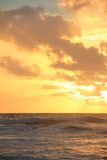 Sunrise over the pacific. Ocean Royalty Free Stock Photography