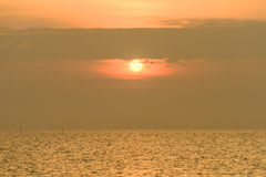Sunrise Over the Pacific Ocean. Thailand Royalty Free Stock Photo