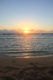 Sunrise over the pacific. Sun rising over the pacific ocean Stock Photography