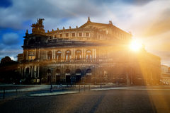 Sunrise over the palace Royalty Free Stock Photos