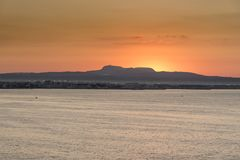Sunrise over Palma Bay from Queen Elizabeth Stock Image