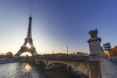 Sunrise over Paris Royalty Free Stock Photography