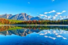 Sunrise Over Patricia Lake in Jasper National Park Royalty Free Stock Photos