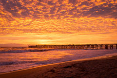 Sunrise over the pier Royalty Free Stock Photo