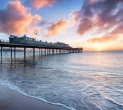 Sunrise over the Pier Stock Photography