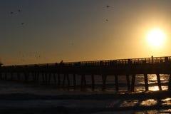Sunrise over the Pier Stock Photo