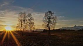 Sunrise over the plain Stock Image