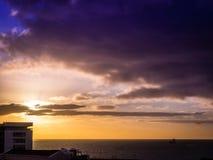 Sunrise over Ponta Delgada Royalty Free Stock Photos