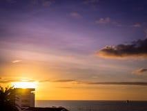 Sunrise over Ponta Delgada Stock Photo