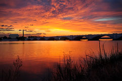 Sunrise Over The Potomac River In Washington DC. Royalty Free Stock Images