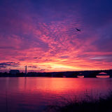 Sunrise Over The Potomac River In Washington DC. Royalty Free Stock Photos
