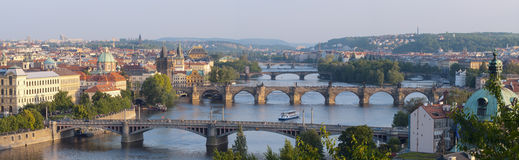 Sunrise over Prague. Royalty Free Stock Image