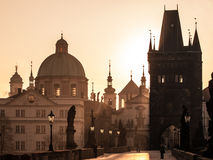 Sunrise over Prague Royalty Free Stock Photos