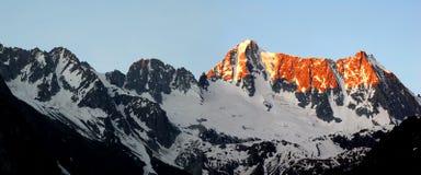Sunrise over Presanella. In the National Park Adamello-Brenta-Italian Alps Stock Photography