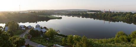 Sunrise over the Ptitsegradsky pond. Sergiev Posad. Royalty Free Stock Image