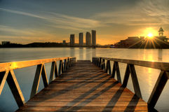 Sunrise over Putrajaya Lake Stock Images