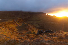 Sunrise over the Quiraing Royalty Free Stock Images
