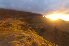 Sunrise over the Quiraing Stock Photo