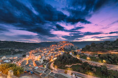 Sunrise over Ragusa Ibla - Sicily Royalty Free Stock Images