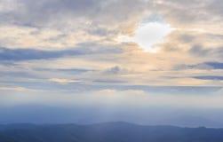 Sunrise over the range of mountains Royalty Free Stock Image